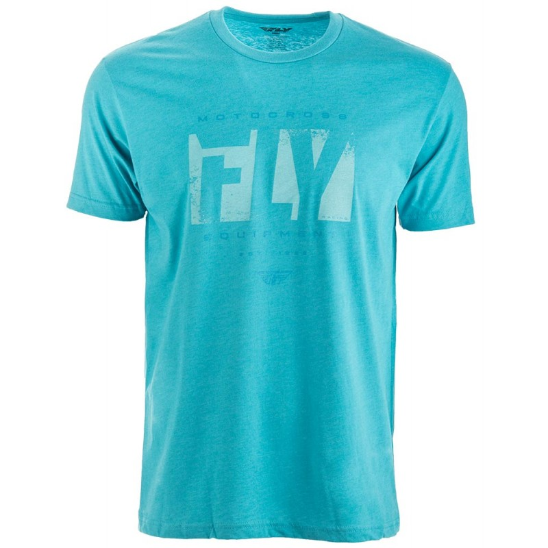Fly Racing Shirt Riot blau L