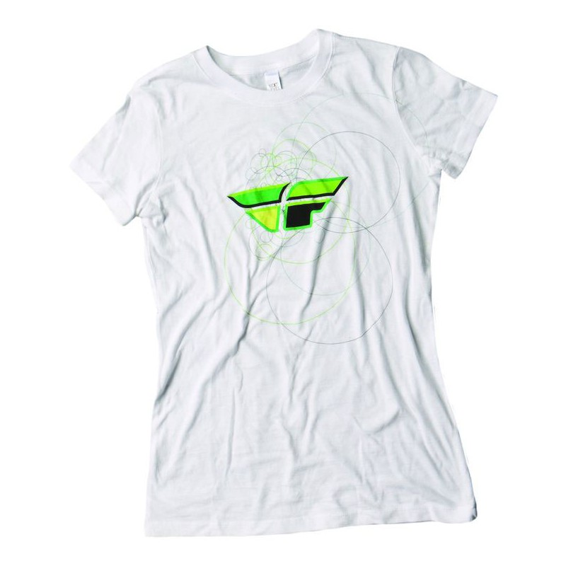 Fly Racing T-Shirt Girls Contempodium white