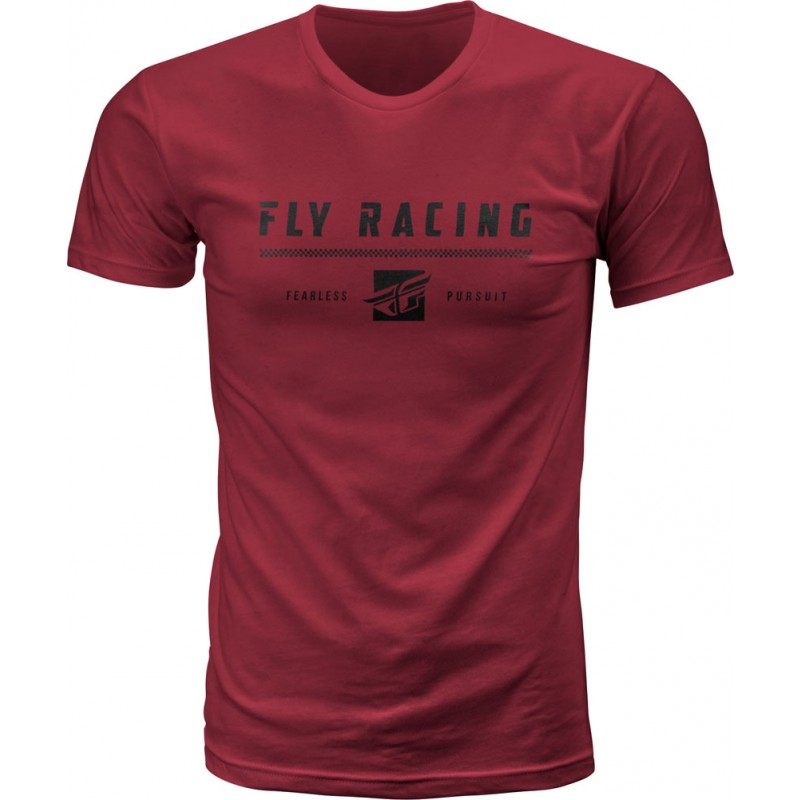 Fly Racing T-Shirt Pursuit maroon