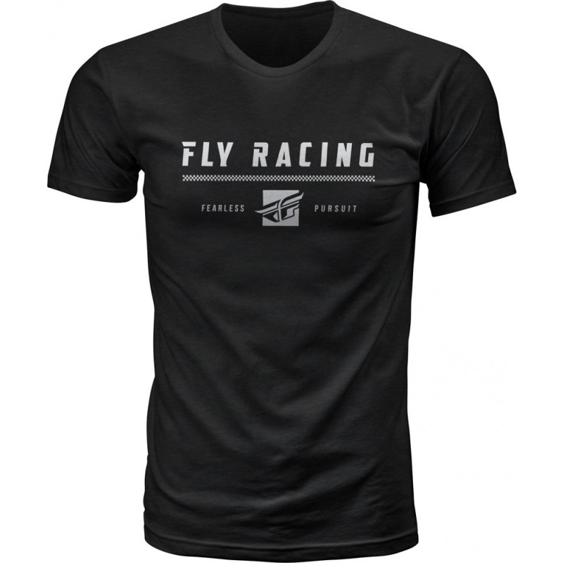 Fly Racing T-Shirt Pursuit schwarz