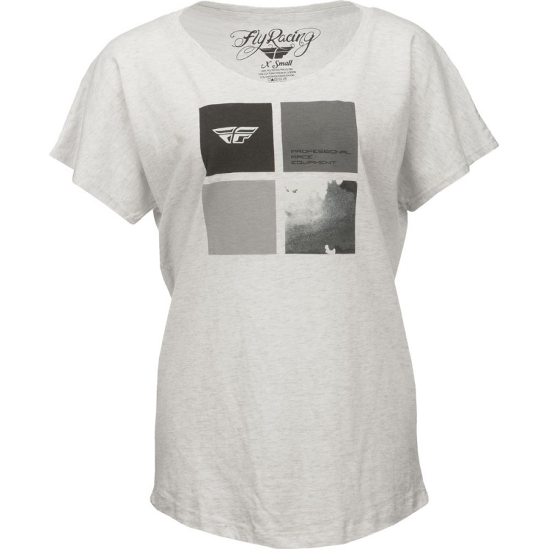 Fly Racing T-Shirt Girls Tetrad white