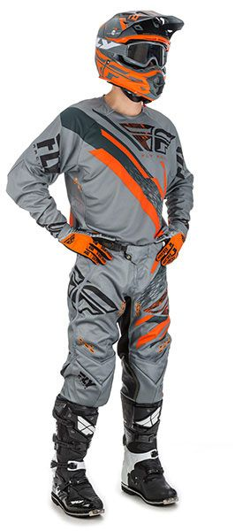 Fly Racing Evotultion Grau/Orange/Schwarz