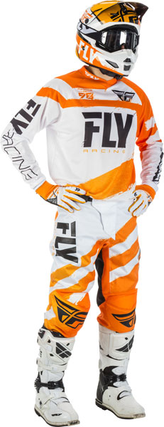 Fly Racing F-16 Orange / Weiß