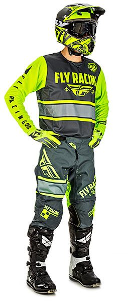 Fly Racing Kinetic Grau / Hi-Vis
