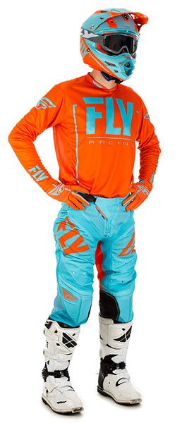 Fly Racing Lite Hydrogen Orange / Blau
