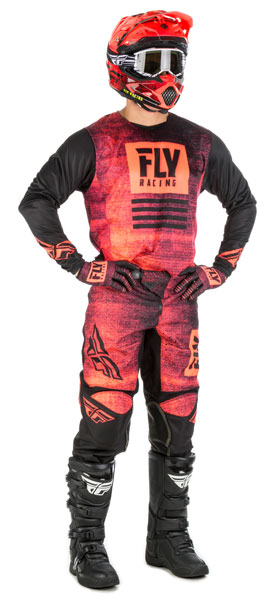 Fly Racing Kinetic-Noiz Red / Black