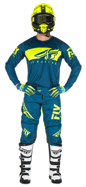 Fly Racing Kinetic Shield Navy / Hi-Vis