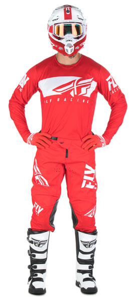 Fly Racing Kinetic-Shield Red / White