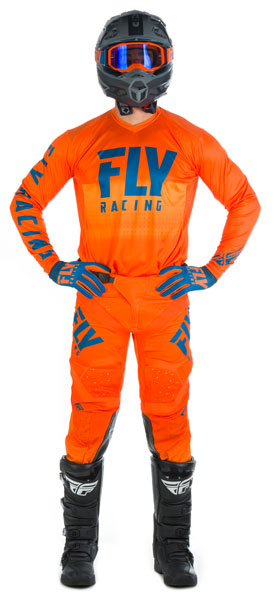 Fly Racing Lite Hydrogen Orange / Navy