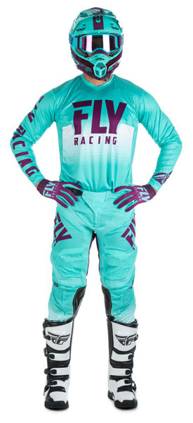 Fly Racing Lite Hydrogen Seafoam / Port / Weiß