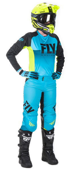 Fly Racing Women's Blau / Hi-Vis