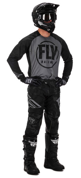 Fly Racing Evolution DST Schwarz / Grau