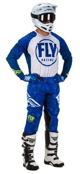 Fly Racing Evolution DST Blau / Weiß