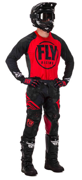 Fly Racing Lite Evolution DST Rot / Schwarz