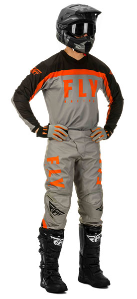 Fly Racing F-16 Grau / Schwarz / Orange