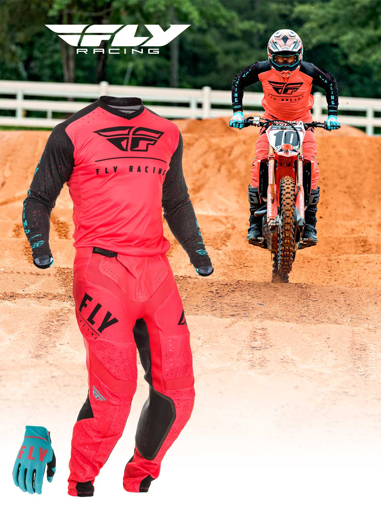 Fly Racing Limited Edition Coral Lite Boa