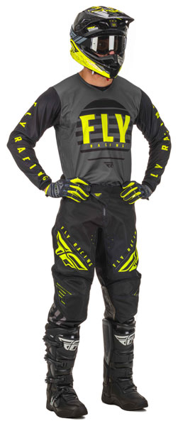 Fly Racing Kinetic Schwarz / Grau / Hi-Vis