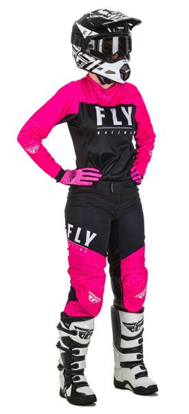 Fly Racing Women Neon Pink / Schwarz